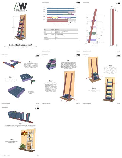 ladder shelf collage