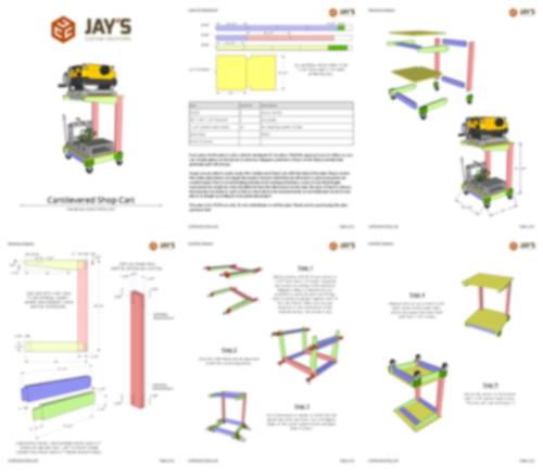 cantilever shop cart collage