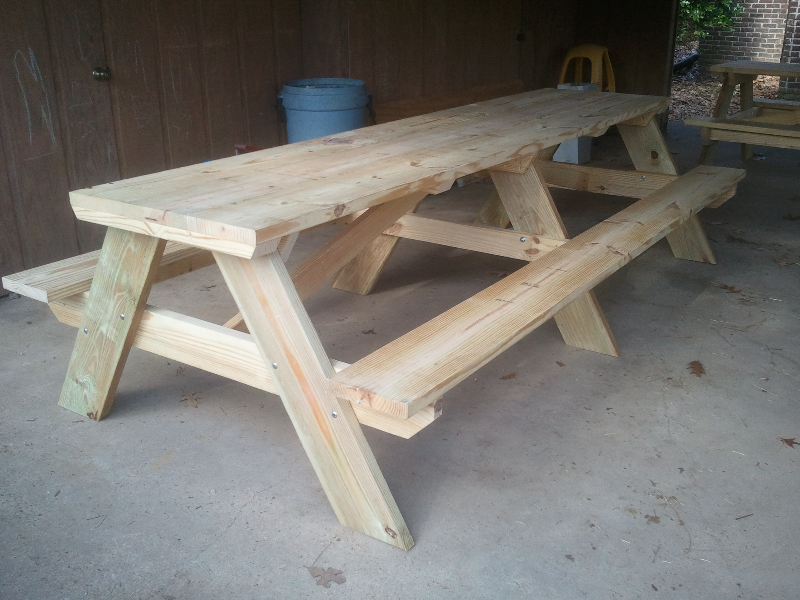 Picnic table plans free download pdf woodworking for Table design 10 personnes