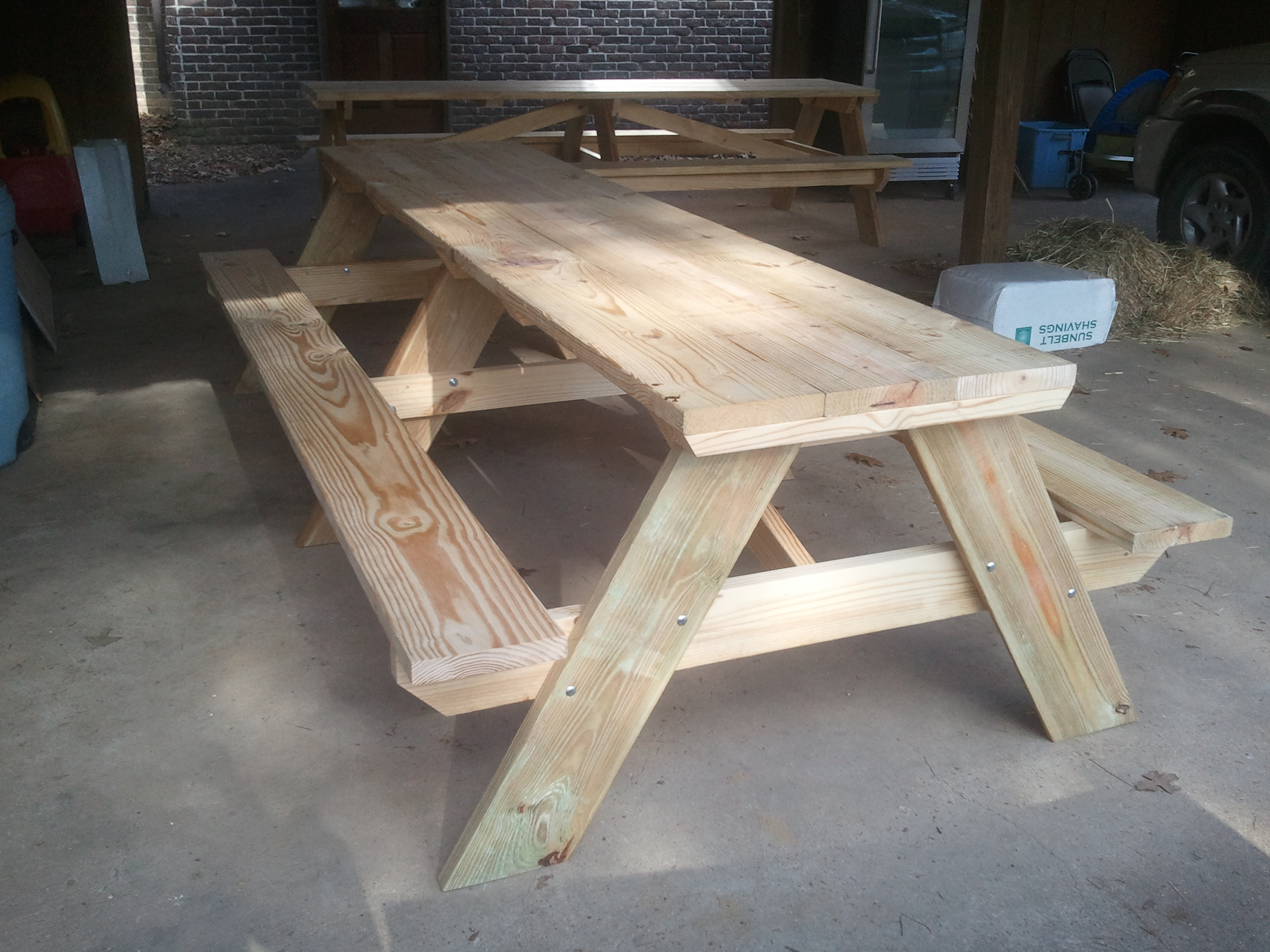 10 foot picnic table plans pictures to pin on pinterest