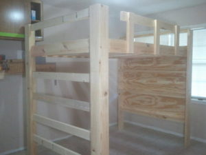 This is a picture of Effortless Printable Full Size Loft Bed Plans