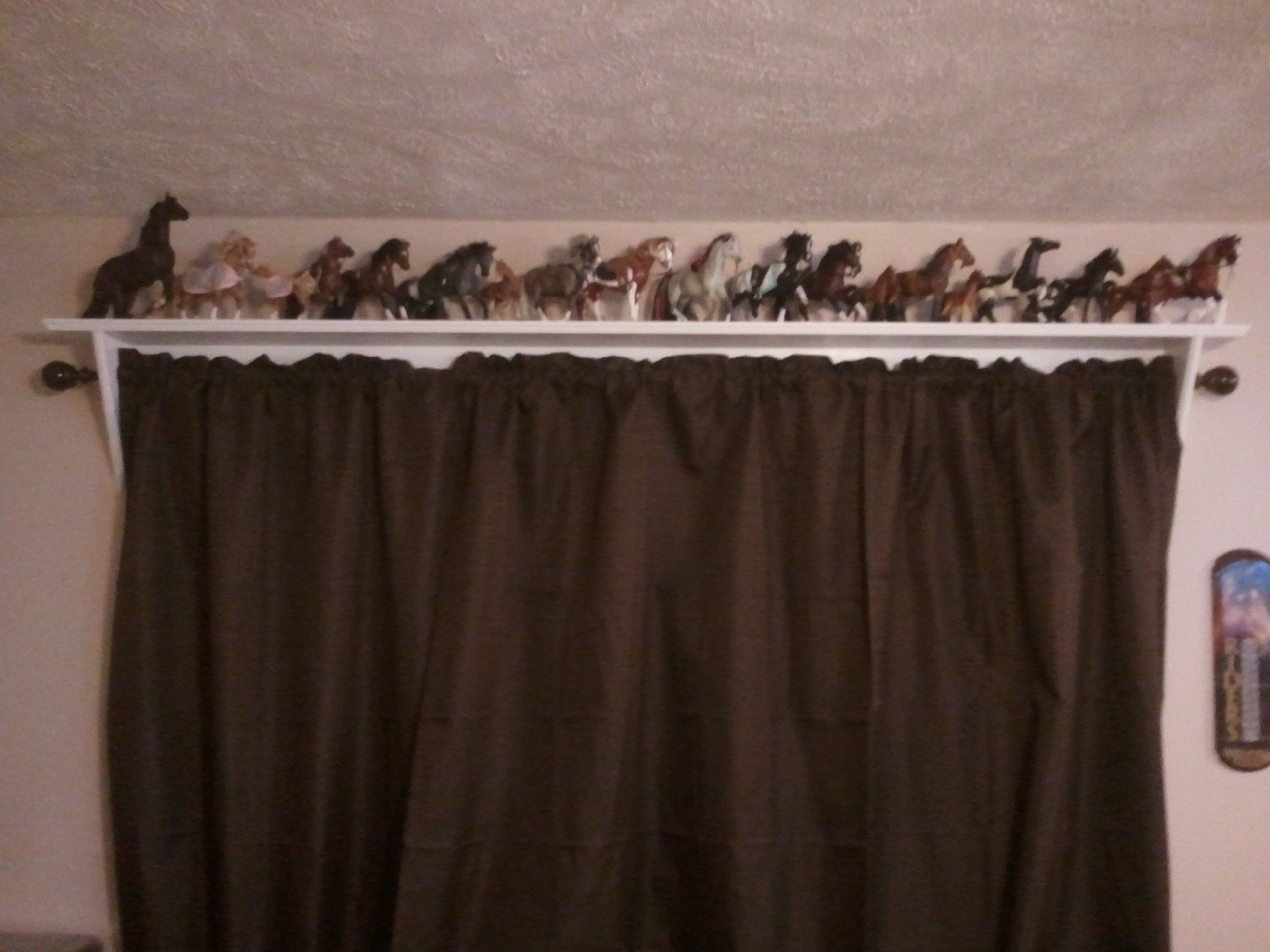 Curtain Rod Shelves | Jays Custom Creations