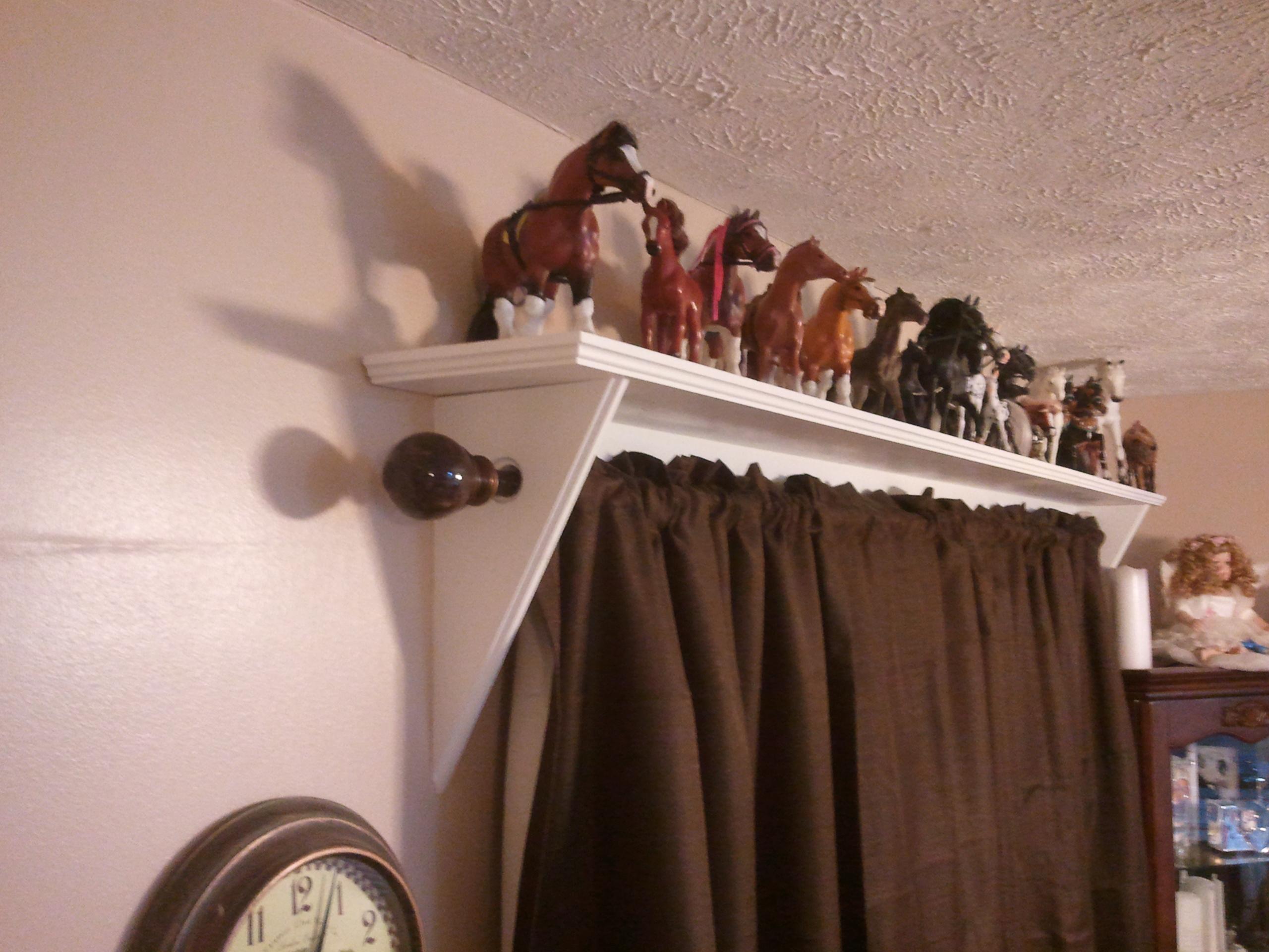 Shelves Curtain Rod