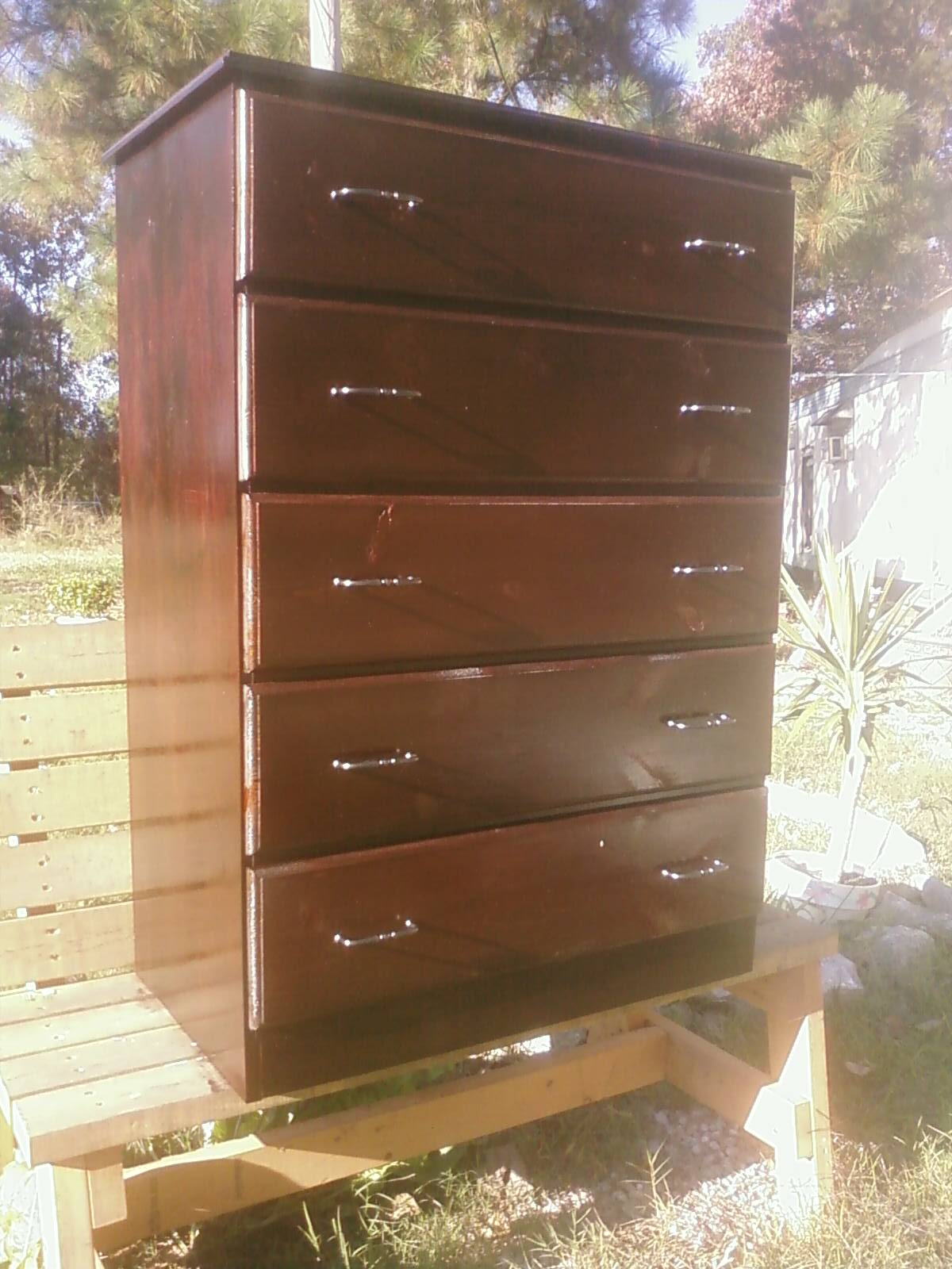dresser wood micke an ikea malm this by together cabinet putting made desk and them covering grade drawer is beautiful pin in