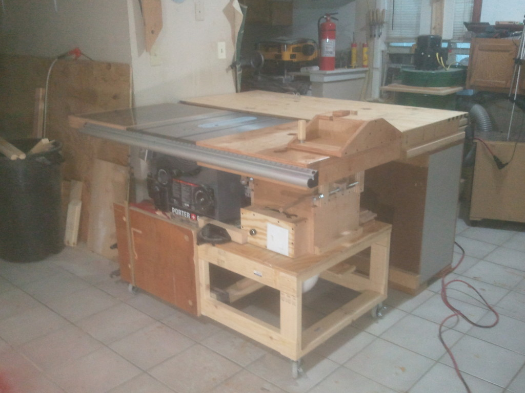 Homemade router table lift - Dual Router Table
