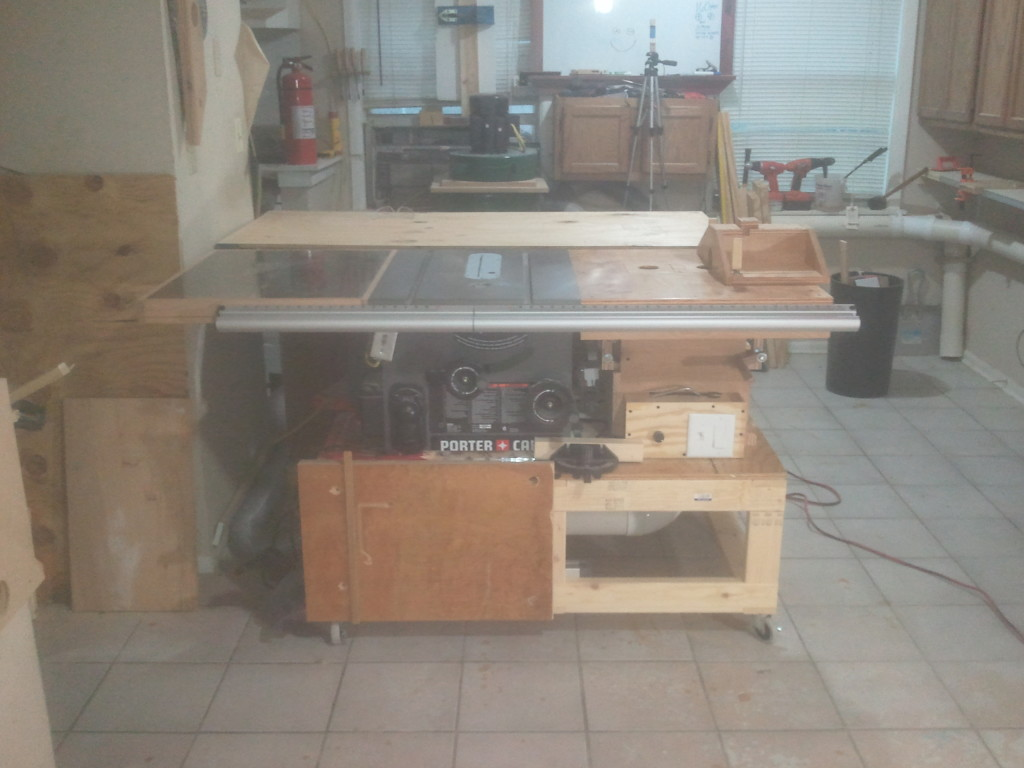 Completed Saw Station