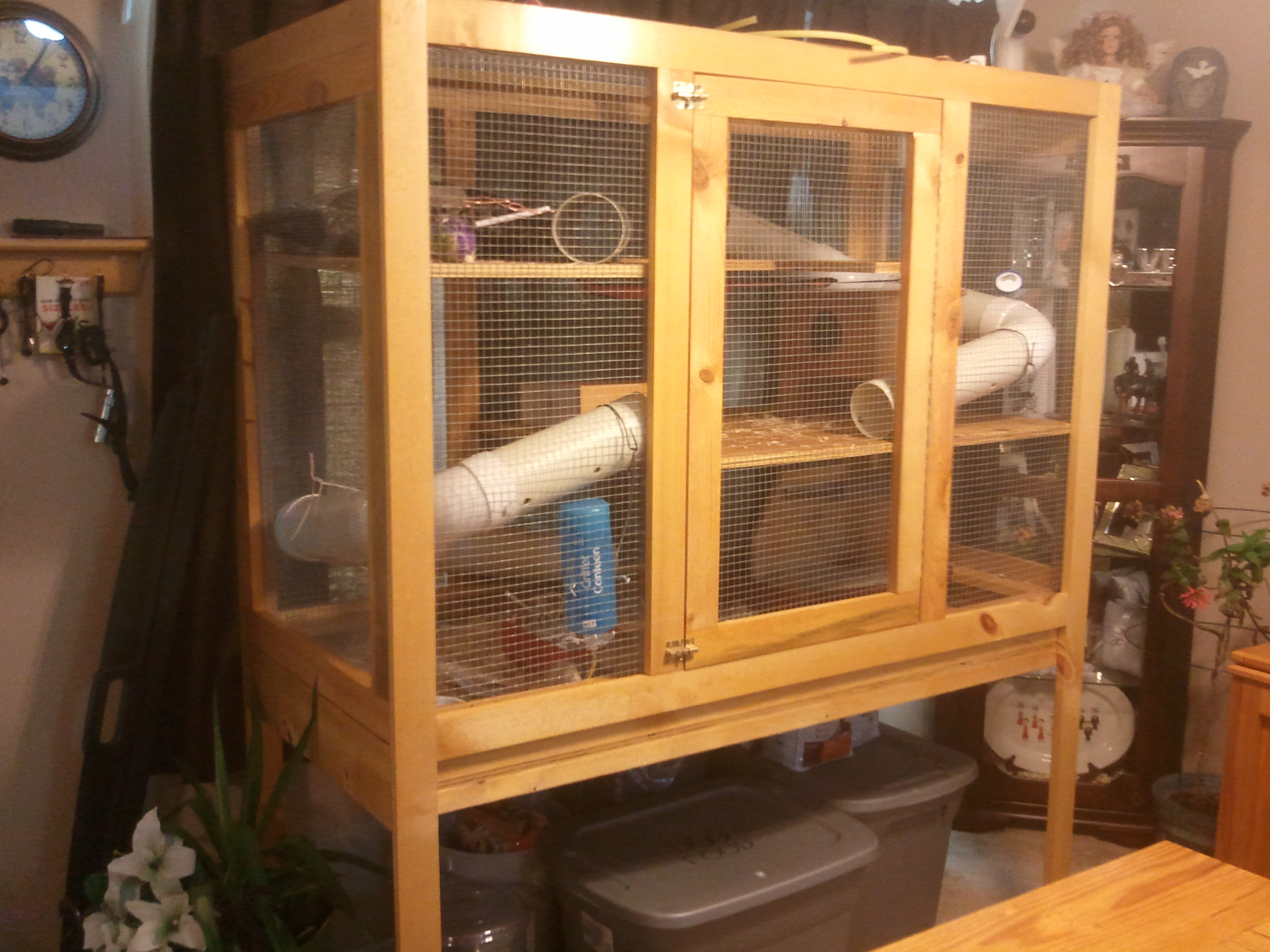 Ferret cage jays custom creations for Custom build your home