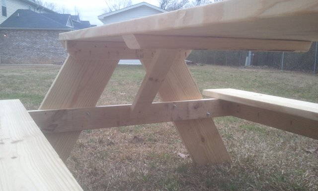 How To Build A 6 Foot Picnic Table Jays Custom Creations