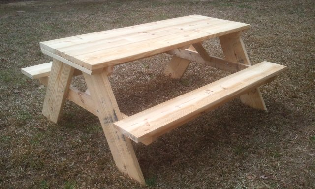 Awesome How To Build A 6 Foot Picnic Table Jays Custom Creations Dailytribune Chair Design For Home Dailytribuneorg