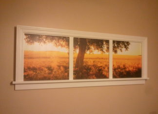 Window frame picture frame