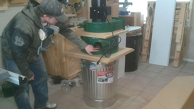 Modified harbor freight dust collector jays custom creations for Harbor freight blower motor