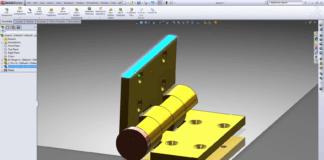 SolidWorks hinge