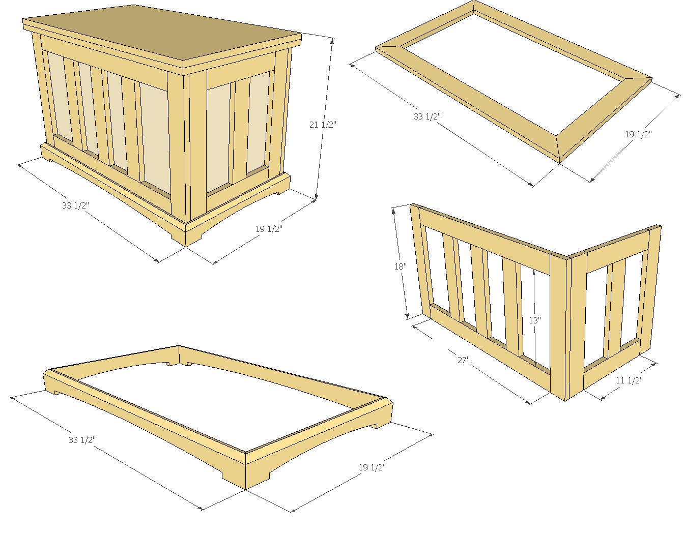 Hope Chest Plans ~ How to build a pocket hole blanket chest jays custom