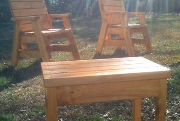 How To Build 2 Outdoor Arm Chairs And A Side Table