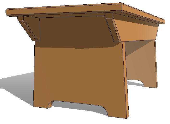 Pocket hole step stool