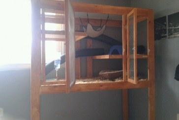 Melisa Robert's Homemade Ferret Cage