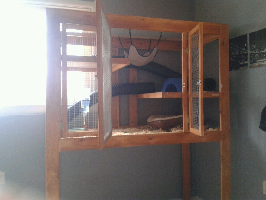 homemade ferret cage