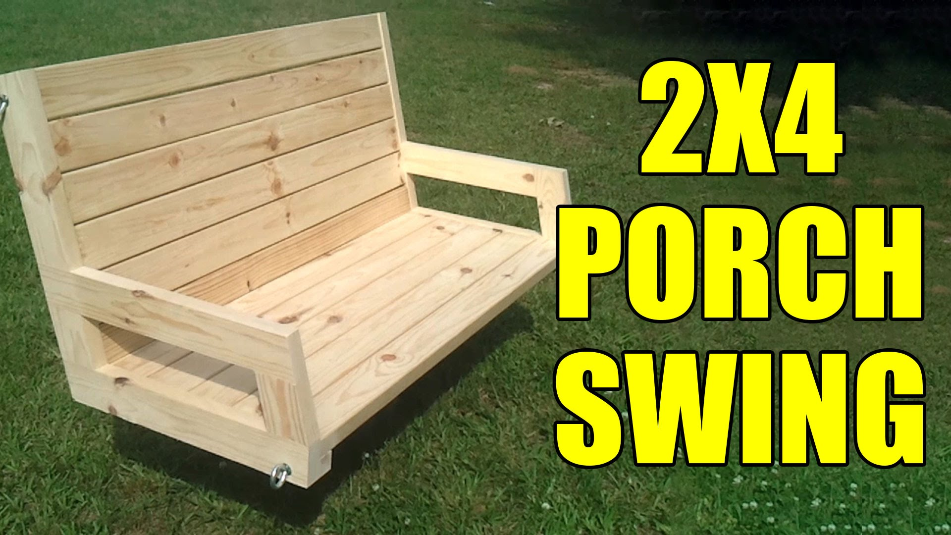How To Build A 2 4 Porch Swing Jays Custom Creations