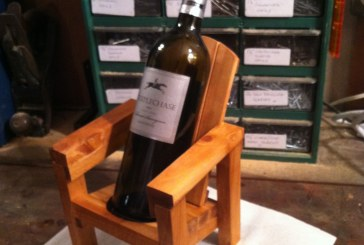 Thom's Mini Adirondack Chair Wine Bottle Holder