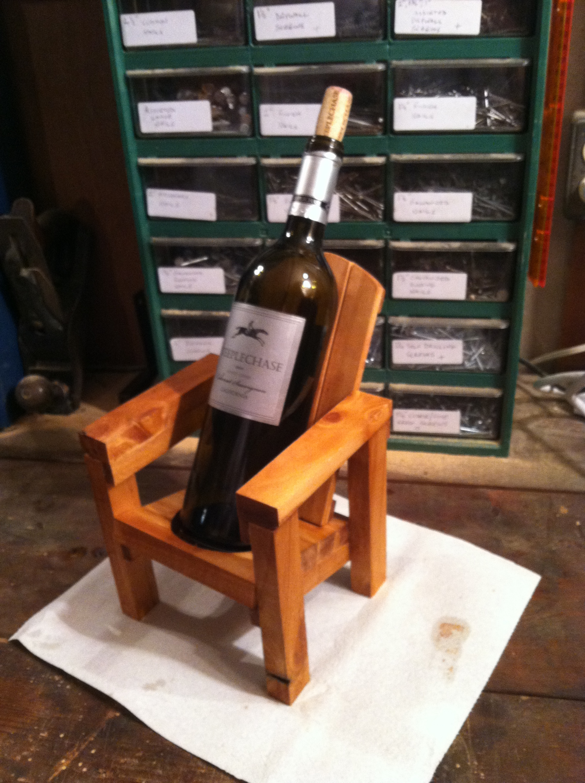 Adirondack Chair With Wine Glass Holder