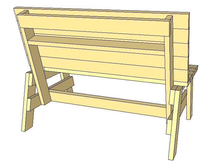 mini bench condiment holder