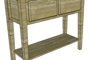 SketchUp: Sofa Table