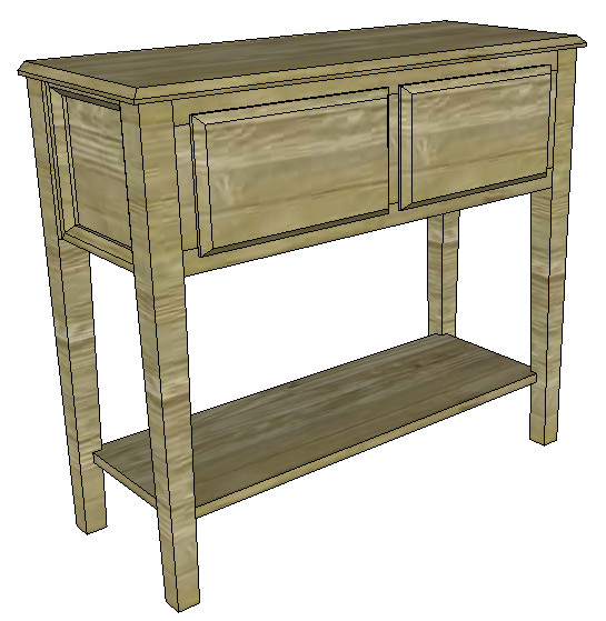 SketchUp: Sofa Table