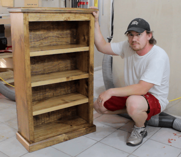 Easy pocket hole bookcase jays custom creations for How to build a project plan