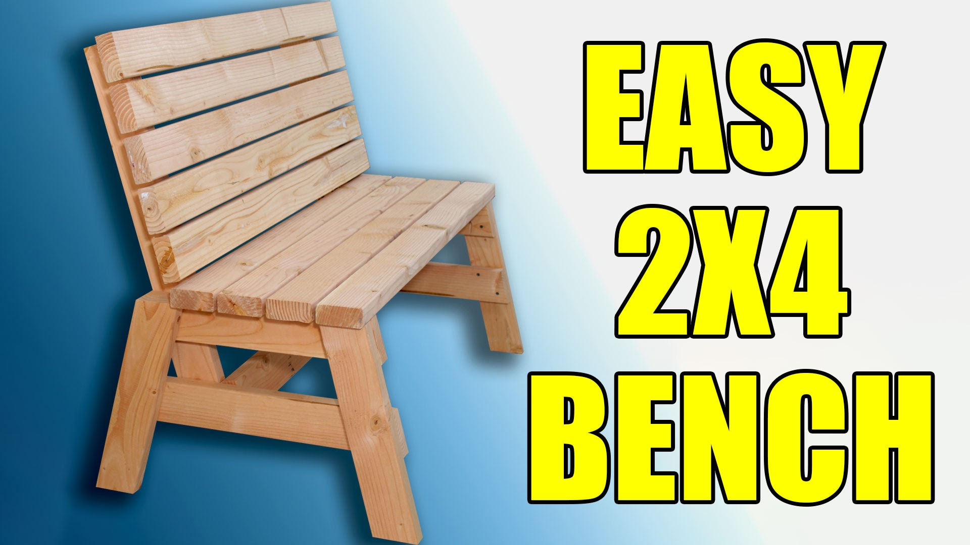 How To Build A Comfortable 2×4 Bench And Side Table | Jays Custom