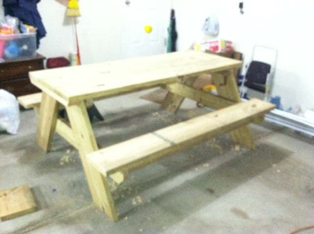 Jason Wright's 6 Foot Picnic Table