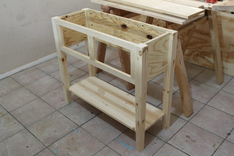 pocket hole sofa table