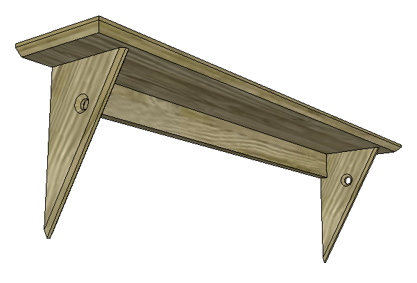 SketchUp: Curtain Rod Shelf