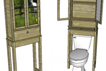 SketchUp: Toilet Cabinet