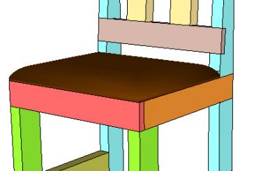 SketchUp: Half Lap 2×4 Dining Chair