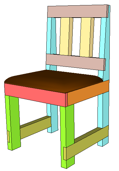 half lap 2x4 chair
