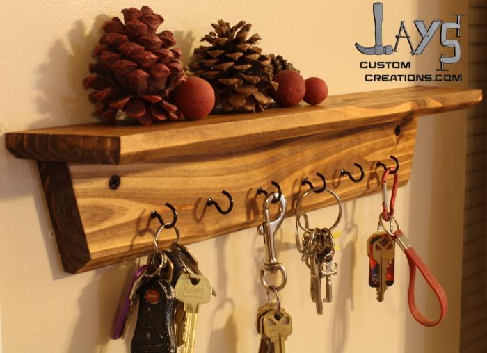 DIY Key Holder Shelf