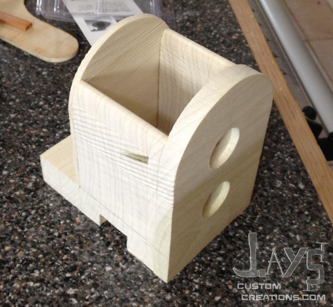 bandsaw box clock