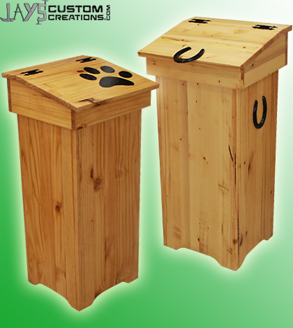 Ordinaire Wooden Trash Can