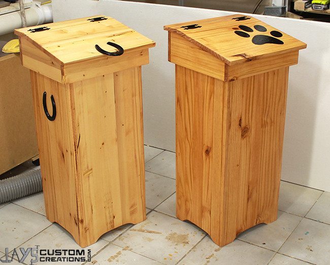 How To Make A Wooden Trash Can Jays Custom Creations