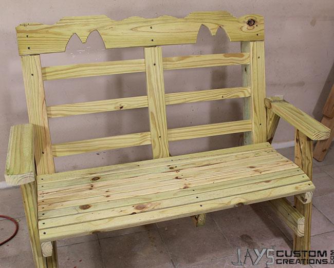 Horse-bench-back