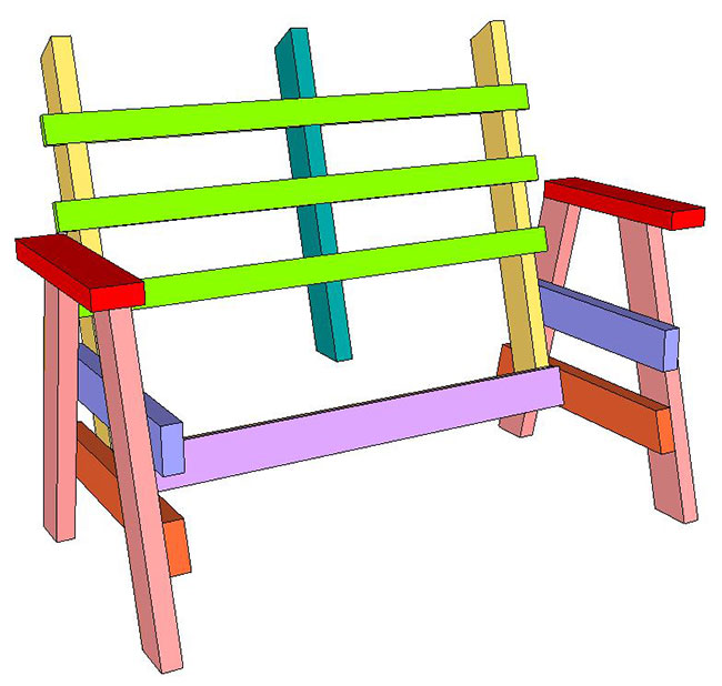 SketchUp Horse Bench (4)