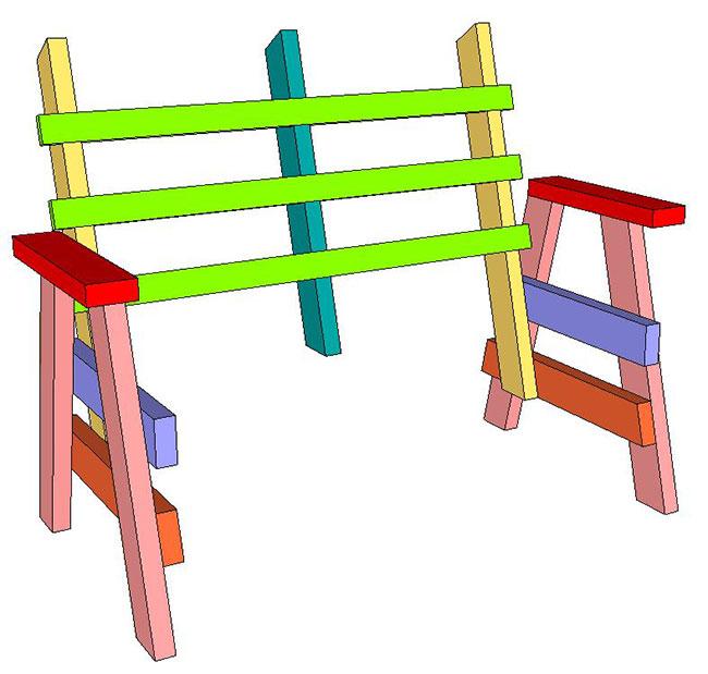 SketchUp Horse Bench (5)