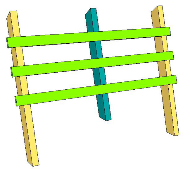 SketchUp Horse Bench (6)