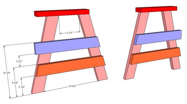 SketchUp Horse Bench (7)