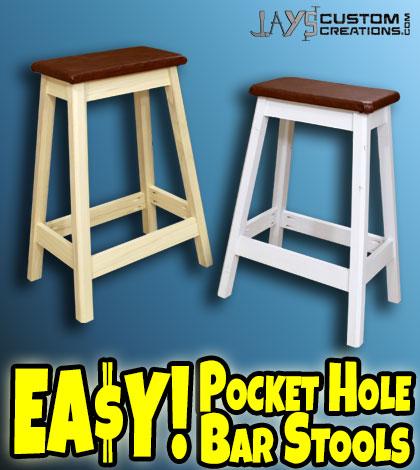 how to make a diy pocket hole bar stool jays custom creations. Black Bedroom Furniture Sets. Home Design Ideas