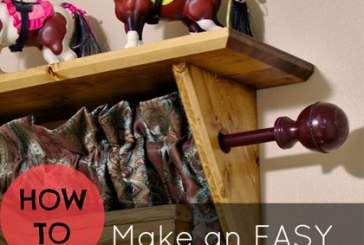 How To Make A Curtain Rod Shelf
