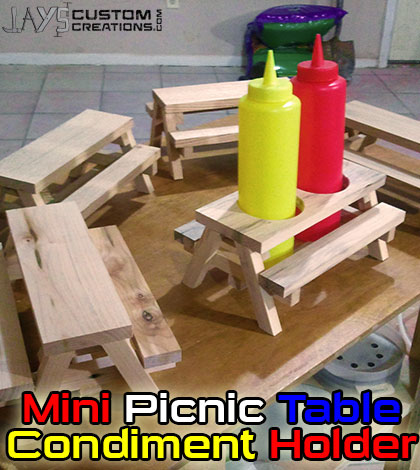 How To Build A Mini Picnic Table Condiment Holder