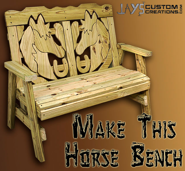 How To Make A Horse Themed Bench Jays Custom Creations