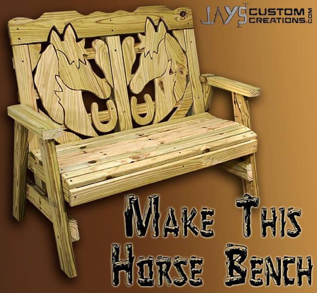 horse bench pinterest