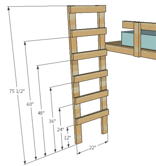 twin loft bed  (9)